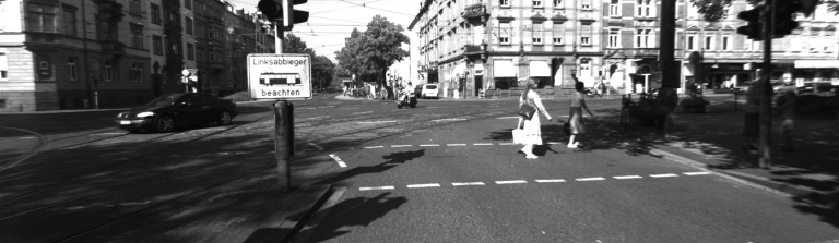Object detection input image of road