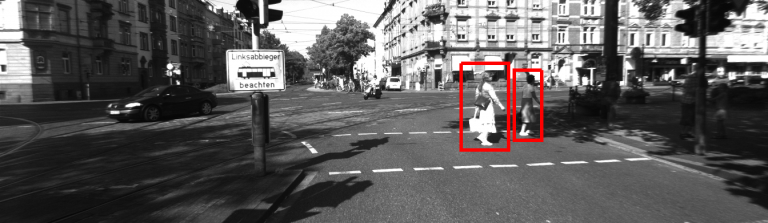 object detection road output